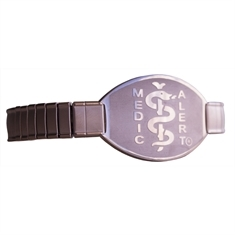 Rose Gold Stainless Steel Stretch Band - Large Emblem