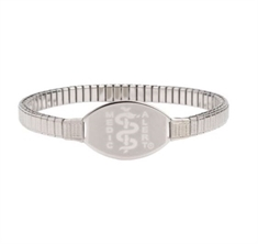 Small ID Premium Stainless Stretch Band 16cms