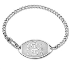 Small Emblem Stainless Steel Classic Bracelet