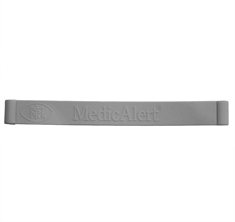 Grey Silicone Band Only - Small