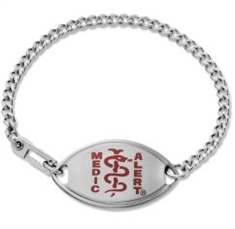 Small Emblem Red Resin Coated Logo Bracelet