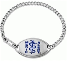 Small Emblem Dark Blue Resin Coated Logo Bracelet