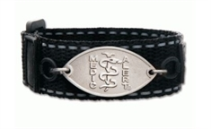 Kids Black Licorice Band with Petite Emblem - Large