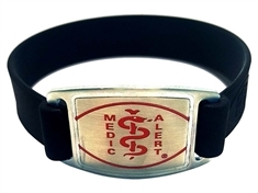 Medium Silicone Band with Stainless Steel Emblem