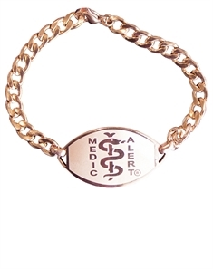 Large Emblem Rose Gold Coloured Stainless Steel Bracelet