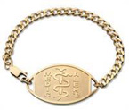 Large Emblem 10ct Gold Filled Bracelet