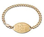 Small Emblem 10 Carat Gold Filled Bracelet