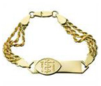 14ct Gold Small Bar - Elegant Bracelet