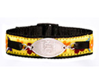 Petite Emblem with Flower Motif Sports Band