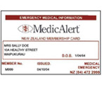 Emergency Medical Wallet Card