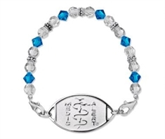 Medium Caribbean Crystal Bracelet with Classic S/Steel Emblem