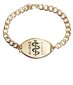 Large Emblem, Gold Coloured Stainless Steel Bracelet