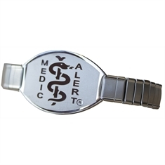 Premium Stainless Steel Stretch Band - Large Emblem
