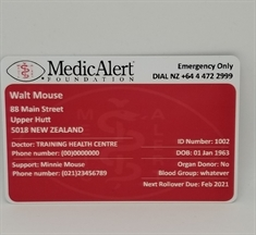 MedicAlert Wallet Card - New Design